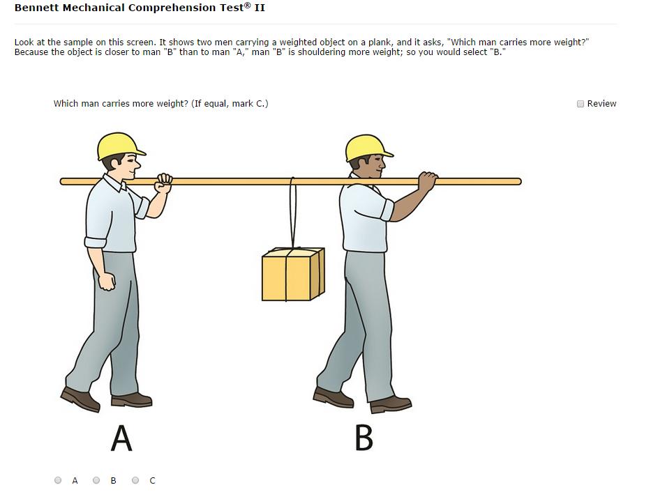 Exemple d'exercice de compréhension mécanique de Bennett
