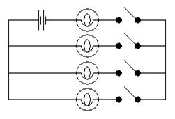 Circuits parallèles dans les exercices de raisonnement mécanique