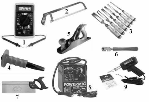 Questions sur les usages des outils dans les exercices de raisonnement mécanique