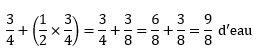 Exemple de question de raisonnement numérique avec des fractions dans le style de SHL